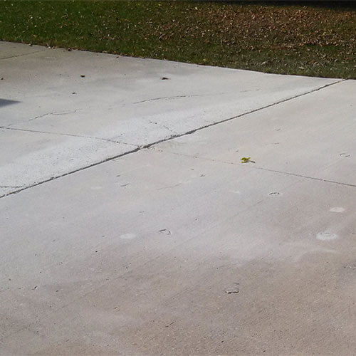 Concrete driveway after PolyLevel
