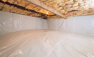 Crawl Space Moisture Barrier After in Big Sky