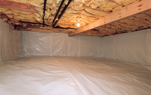 CleanSpace® vapor barrier after in Great Falls