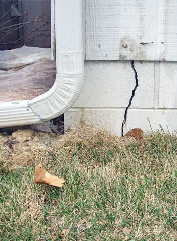 foundation wall cracks due to street creep in Frenchtown