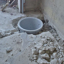 Placing a sump pit in a Ennis home