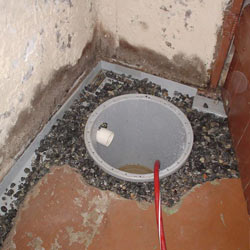 Installing a sump in a sump pump liner in a Billings home