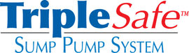 Sump pump system logo for our TripleSafe™, available in areas like Powell