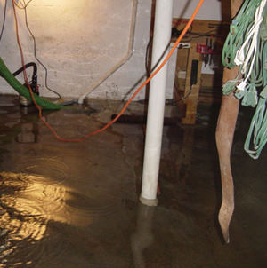 Foundation flooding in a Laurel,Montana and Wyoming home